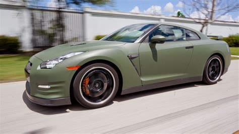 wrapped cars custom nissan gtr matte car wrap miami florida