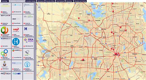texas interactive map interactive maps showcasenorth texas innovation 187 dallas innovates