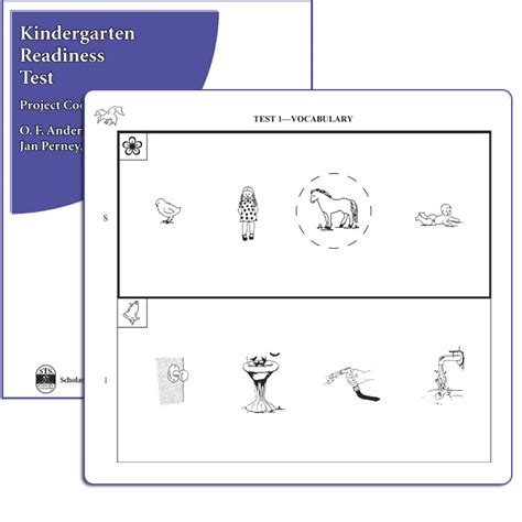 sle of kindergarten test kindergarten readiness test krt