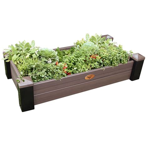 city pickers patio garden emsco city pickers 24 5 in x 20 5 in patio raised garden bed grow box kit with watering system