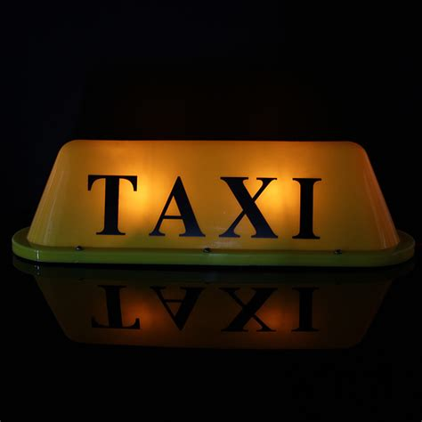 Taxi Light by Led 12v Car Taxi Cab Roof Top Sign Light L Magnetic