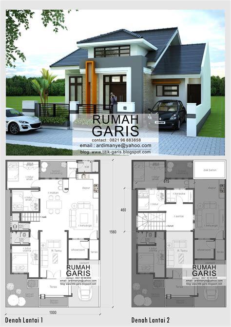 desain model denah  tampak rumah minimalis  lantai  takalar gonzalo pinterest