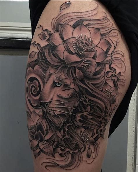 lion flower tattoo 35 best and flower designs images on