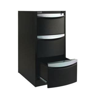 Stilford Filing Cabinet Stilford 3 Drawer Filing Cabinet Black Officeworks