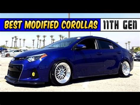 best modified corolla 11th gen compilation stance youtube