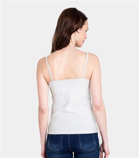 silver grey cotton elastane womens jersey cami top