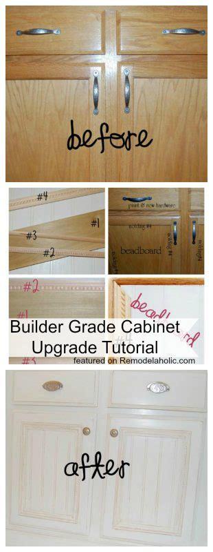 builder grade remodelaholic builder grade cabinet upgraded tutorial