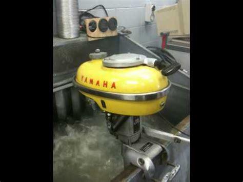 old yamaha boat motor yamaha p3 outboard motor 1963 youtube
