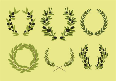 olive vector olive wreath download free vector art stock graphics