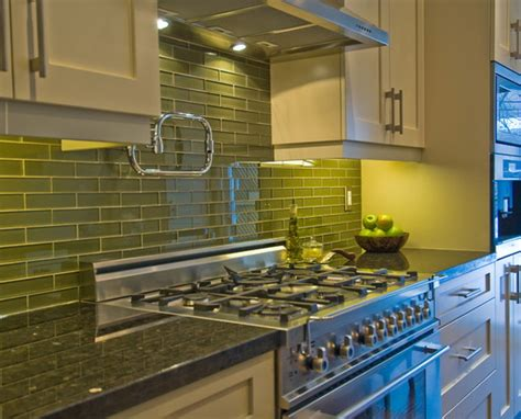 green glass tiles for kitchen backsplashes green tiles kitchen kitchentoday