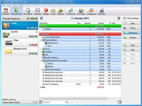 personal home accounting software 7 gbp