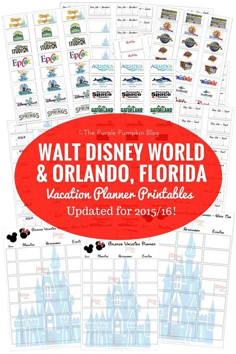 printable orlando vacation planner free printables archives 187 page 3 of 8 187 the purple