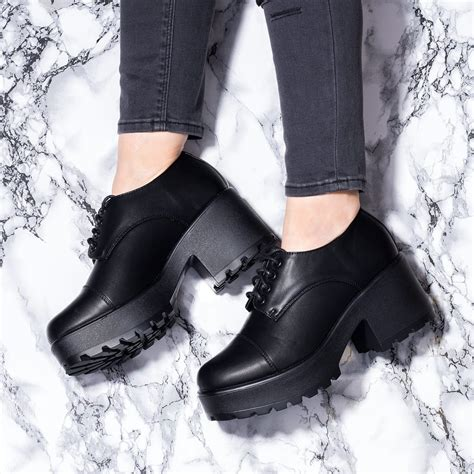 Platform Block Heel Ankle Boots buy tiger block heel lace up platform ankle boots black