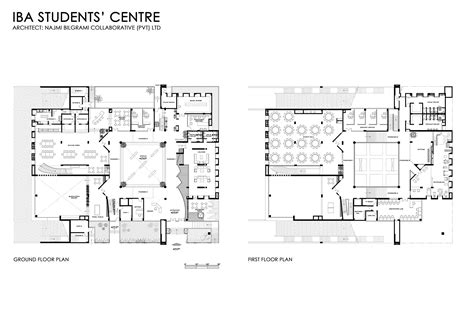 student center floor plan iba student centre najmi bilgrami collaborative archdaily