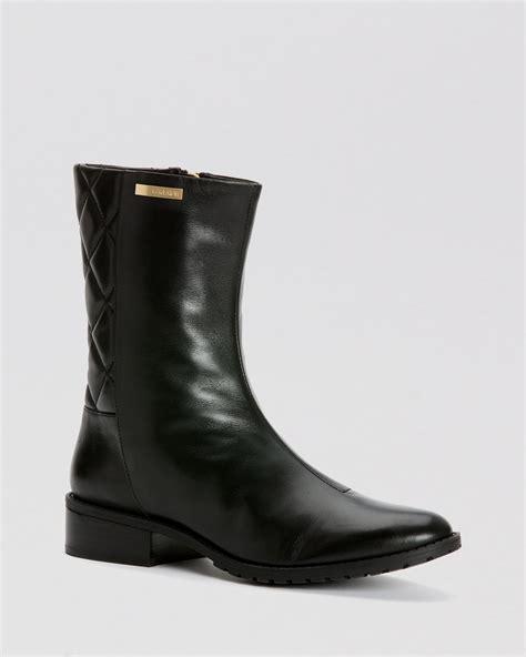 calvin klein boots rene quilted  black lyst