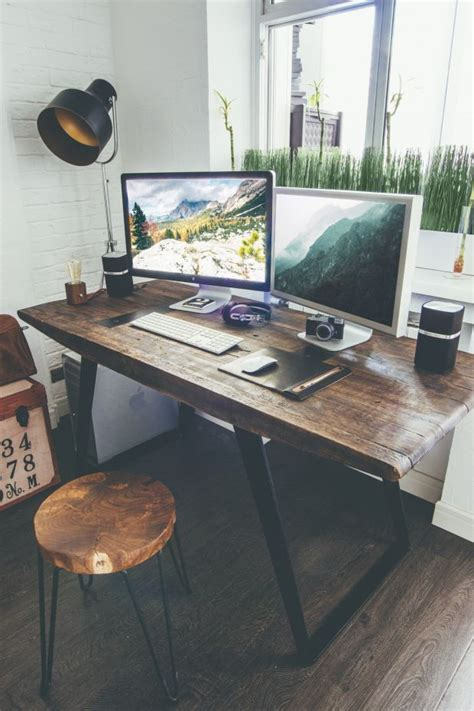 industrial home office desk best 25 wooden desk ideas on diy wooden desk