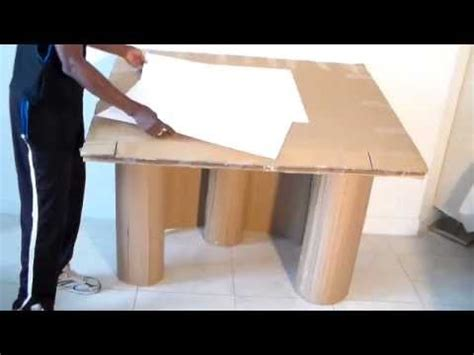 Out Of Desk by How To Make Large Artist Desk From Cardboard Part 1 Of 7