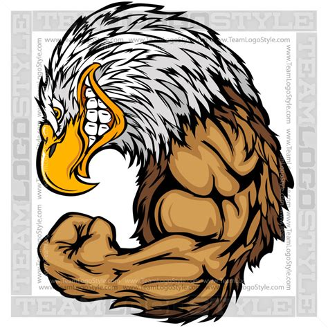 strong eagle cartoon vector clipart eagle