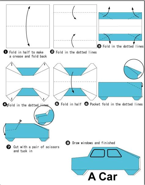 How To Make A Car Paper - 10 best images about origami on origami cars
