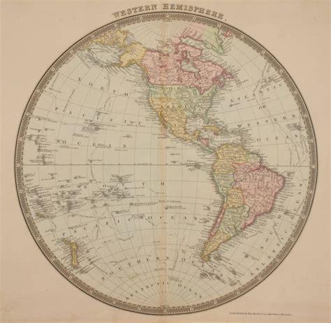 antique maps of the western hemisphere