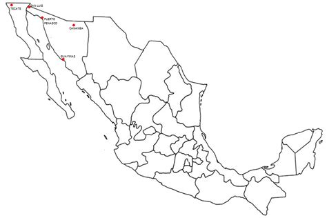 mexico map coloring pages mexico map free colouring pages