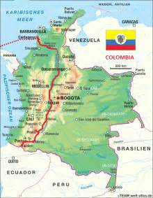 map of colombia in south america colombia mapa fisico