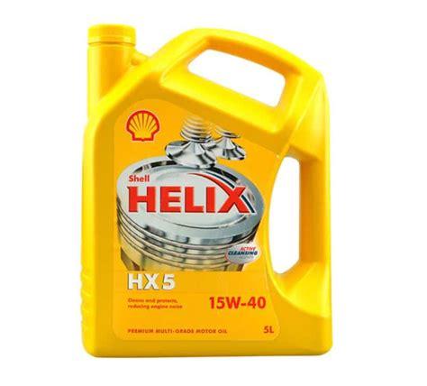 Oli Mobil Shell Helix Hx5 15w 40 1liter 5 liter shell helix hx5 15w40 voorheen olietekoop nl
