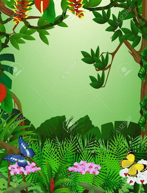 jungle clip jungle clipart jungle backdrop pencil and in color