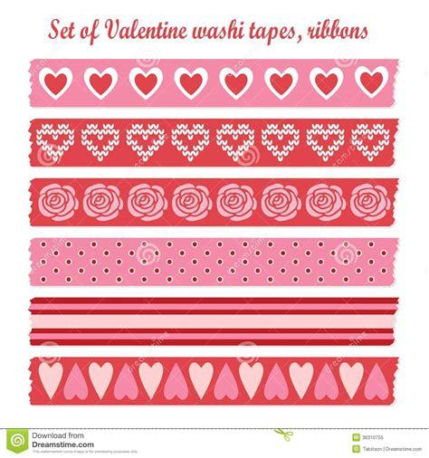 pattern making tape set of romantic valentine vintage washi tapes rib stock