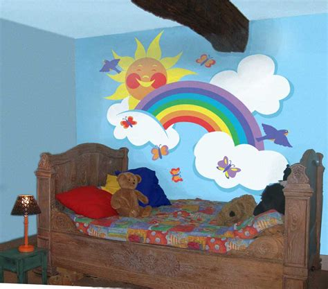 rainbow wall mural children s mural gallery bedroom ideas for see our and easy wall murals in room settings