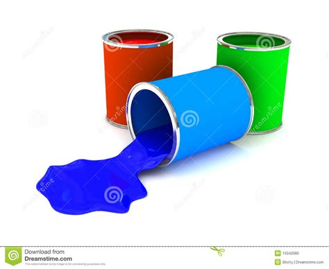 rgb color paint can white stock photo image 15042080