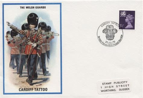 tattoo prices cardiff the welsh guards cardiff tattoo first day cover bfdc