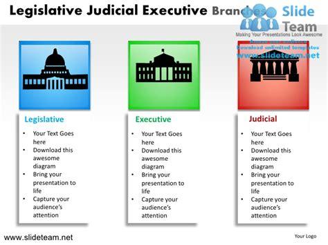 diagram of executive branch legislative judicial executive branches powerpoint ppt slides