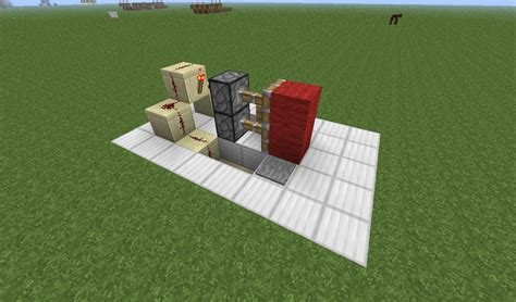 How To Make A Redstone Door by Minecraft Redstone Compact Piston Door With Button And Pressure Plate Arqade