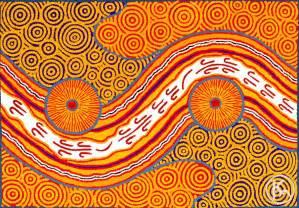 warmth happiness orange central art aboriginal art store