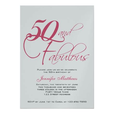 sle 50th birthday invitation wording wording for 50th birthday invitations drevio invitations design