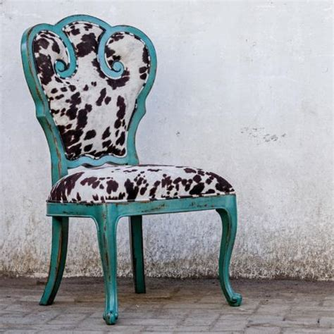 Cow Print Chair by Stylish Turquoise Cow Print Accent Chair Home
