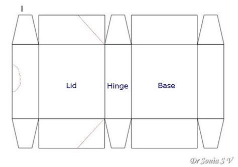 template for box with lid crafters corner your dies