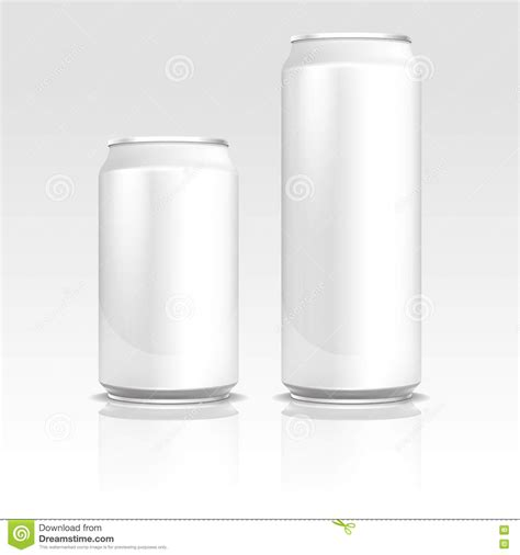 aluminum energy drink soda beer cans 500 and 330 ml vector