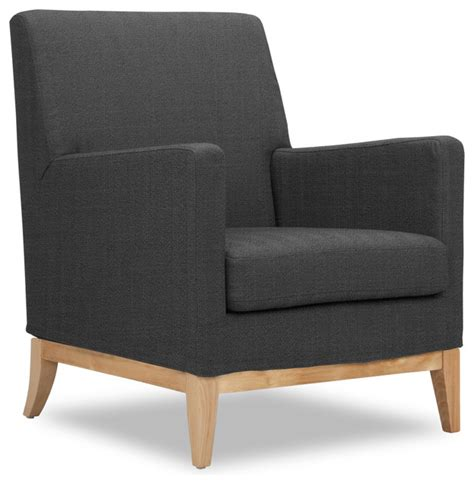 Kingston Dark Grey Armchair Modern Armchairs