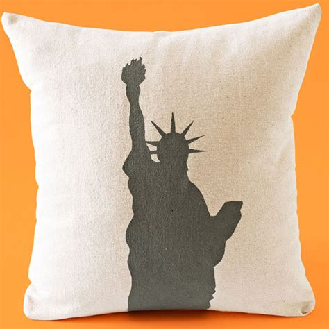 stenciled pillow covers