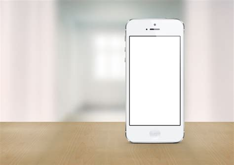 white iphone 5 photoshop mockup pitchstock