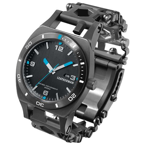 Watches Black leatherman tread tempo black watches 1st
