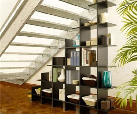 staircase shelf eight simple and creative under stair storage designs