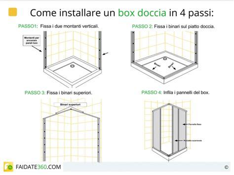 montaggio box doccia installare una doccia come montare piatto box colonna e