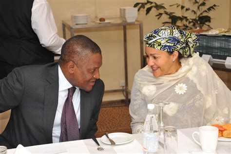 dangote cement wins business of the year award sierra aliko dangote discusses with environmental ministry