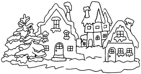winter village coloring page winter coloring pages 6 coloring kids