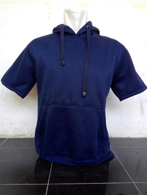 Jual Jaket Hoodie Abu Kombi Navy Merah jual jaket hoodie lengan pendek sleeve hoodie navy