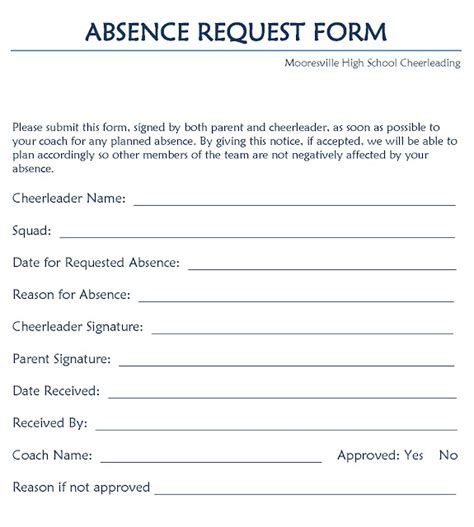 leave form sle leave request form project management