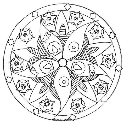 Mandala domandalas fish sea star   Mandalas   Coloring